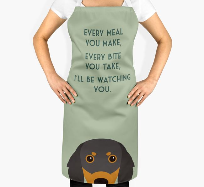 Gordon Setter Apron - I'll be watching you