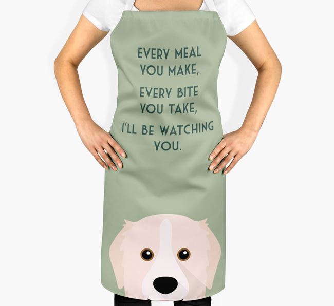 Great Pyrenees Apron - I'll be watching you