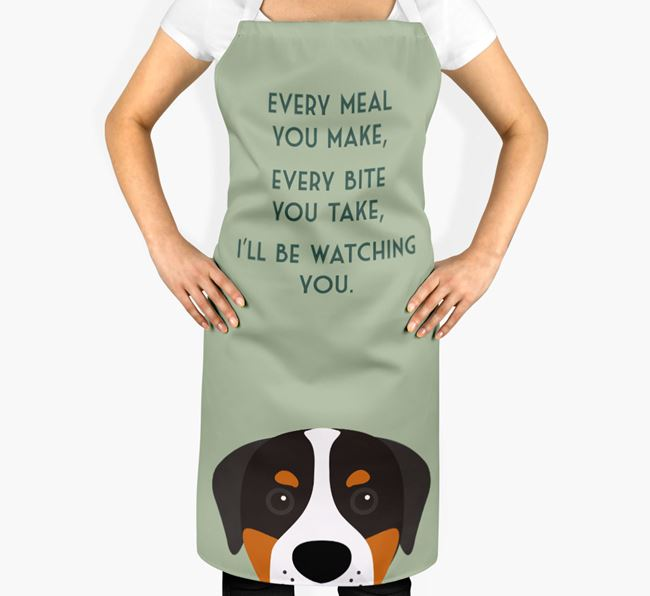 Greater Swiss Mountain Dog Apron - I'll be watching you