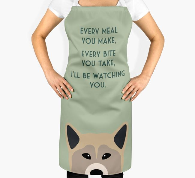 Greenland Dog Apron - I'll be watching you