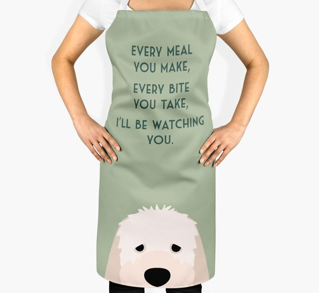 Italian Spinone Apron - I'll be watching you
