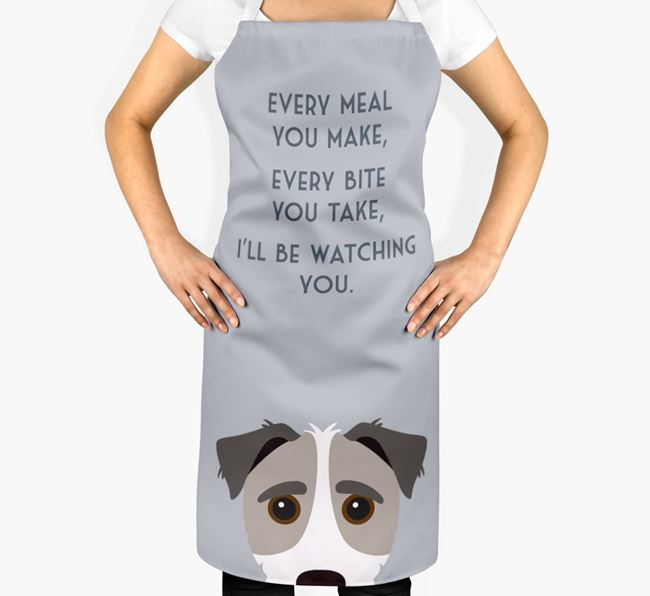 Jack-A-Poo Apron - I'll be watching you