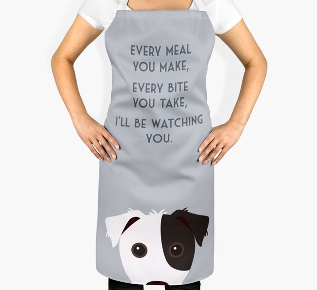 Jack Russell Terrier Apron - I'll be watching you