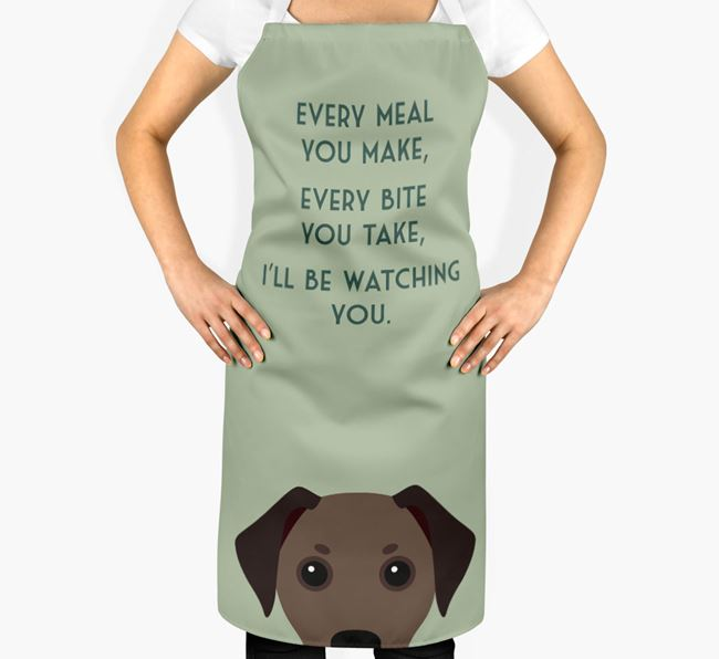 Jackshund Apron - I'll be watching you