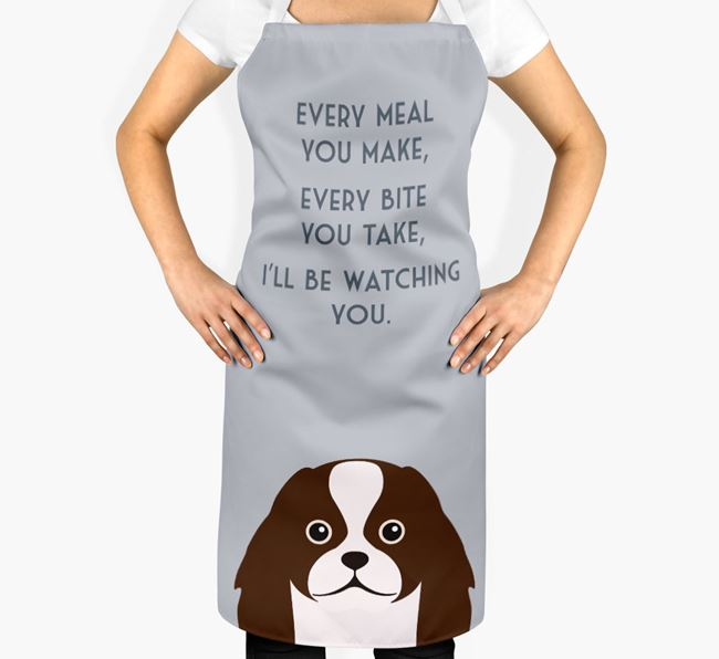 Japanese Chin Apron - I'll be watching you
