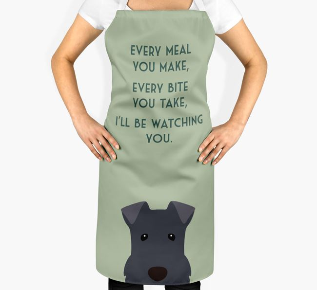 Kerry Blue Terrier Apron - I'll be watching you