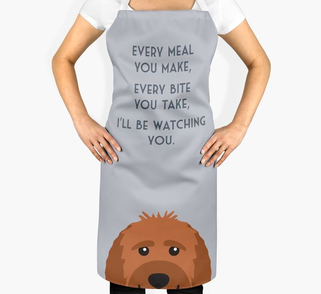 Labradoodle Apron - I'll be watching you