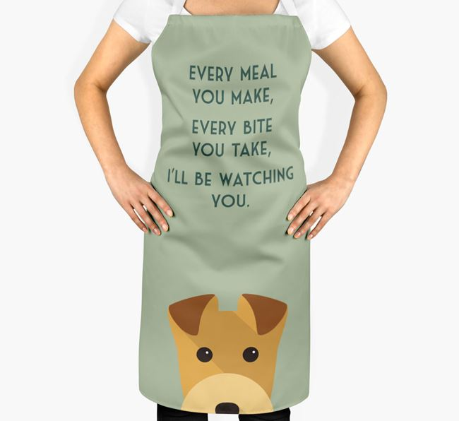 Lakeland Terrier Apron - I'll be watching you