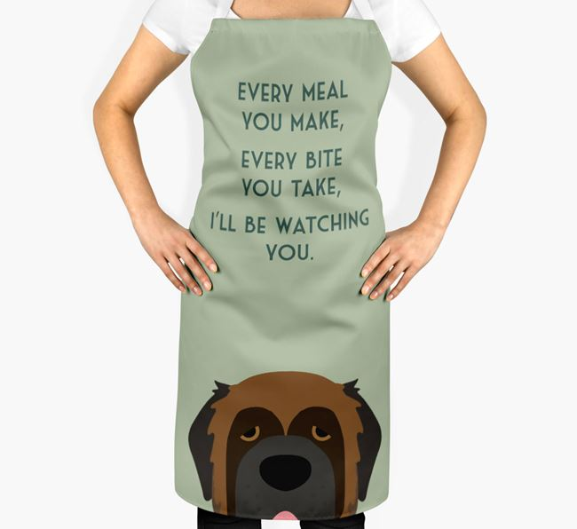 Leonberger Apron - I'll be watching you