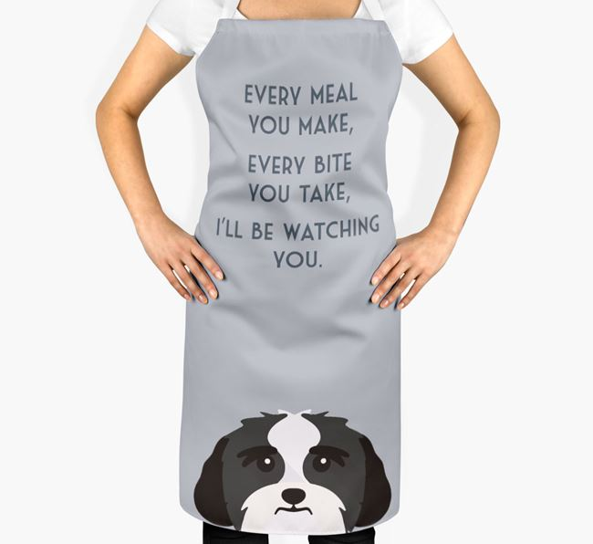 Lhasa Apso Apron - I'll be watching you