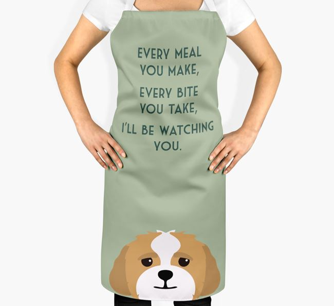 Lhasapoo Apron - I'll be watching you