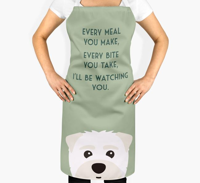 Maltipom Apron - I'll be watching you