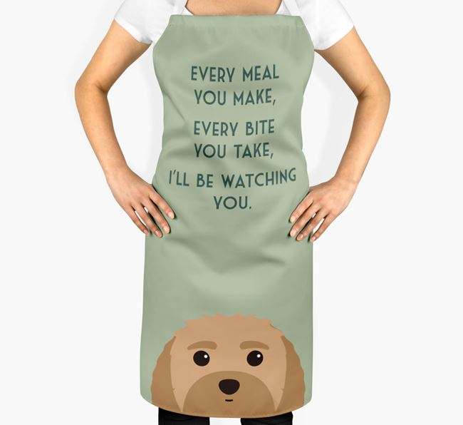 Malti-Poo Apron - I'll be watching you