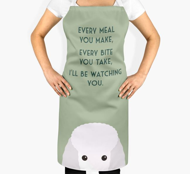 Miniature Poodle Apron - I'll be watching you