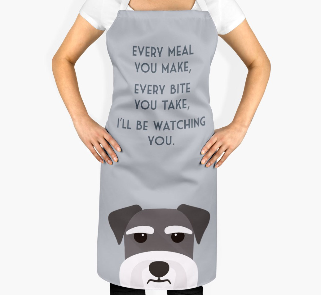 Miniature Schnauzer Apron - I'll be watching you