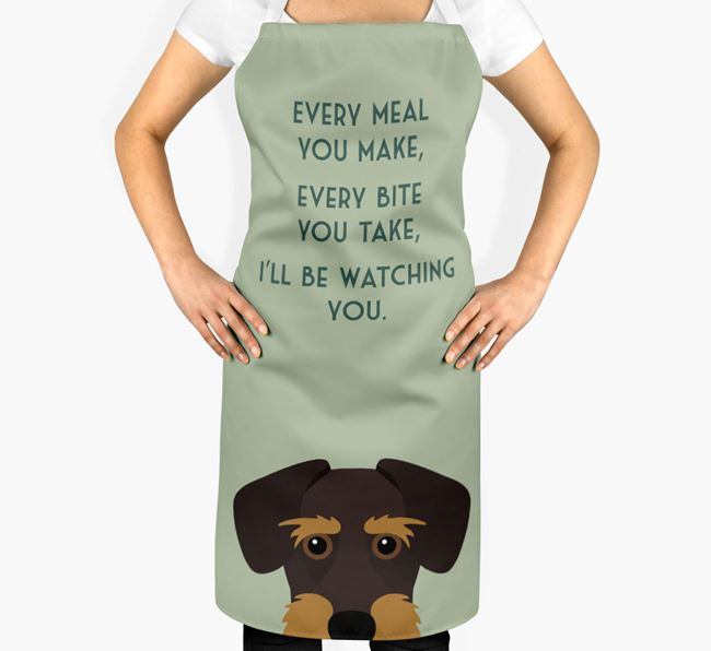 Miniature Schnoxie Apron - I'll be watching you