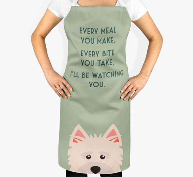 Norwich Terrier Apron - I'll be watching you