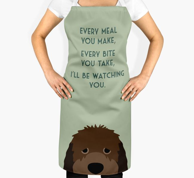 Otterhound Apron - I'll be watching you