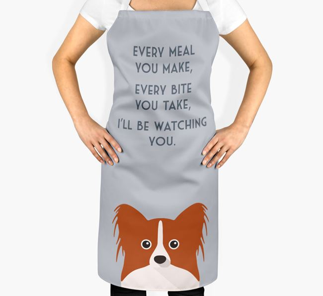 Papillon Apron - I'll be watching you
