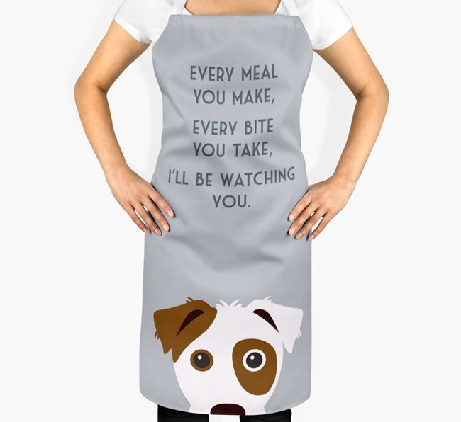 Parson Russell Terrier Apron - I'll be watching you