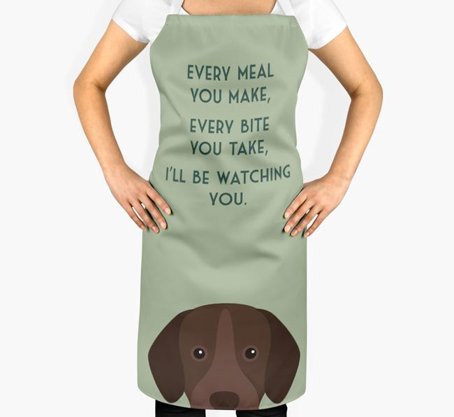 Portuguese Pointer Apron - I'll be watching you