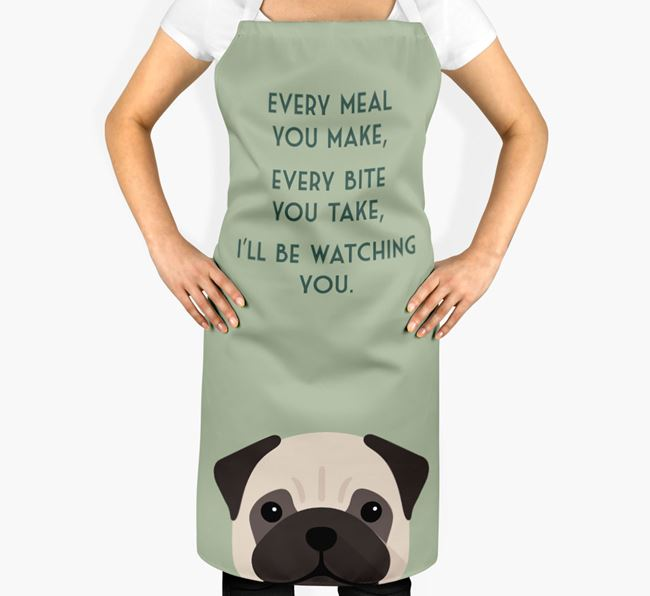 Pug Apron - I'll be watching you