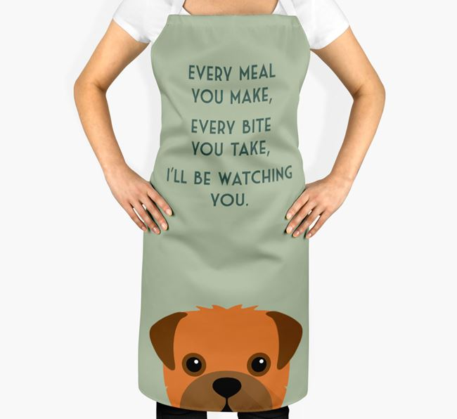 Pugapoo Apron - I'll be watching you