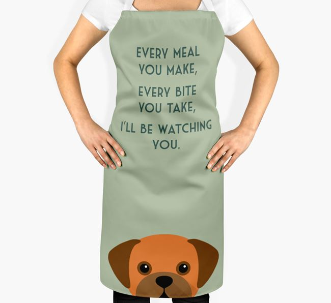 Puggle Apron - I'll be watching you