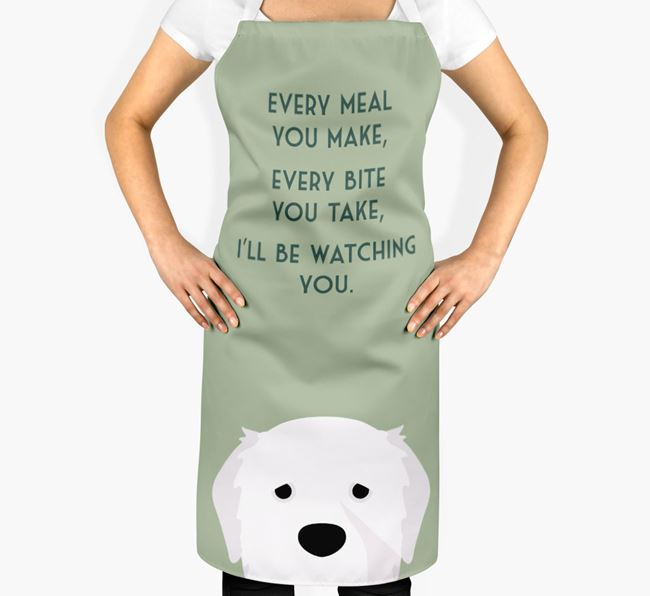 Pyrenean Mastiff Apron - I'll be watching you