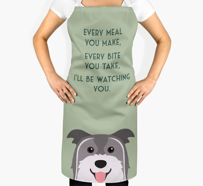 Pyrenean Shepherd Apron - I'll be watching you