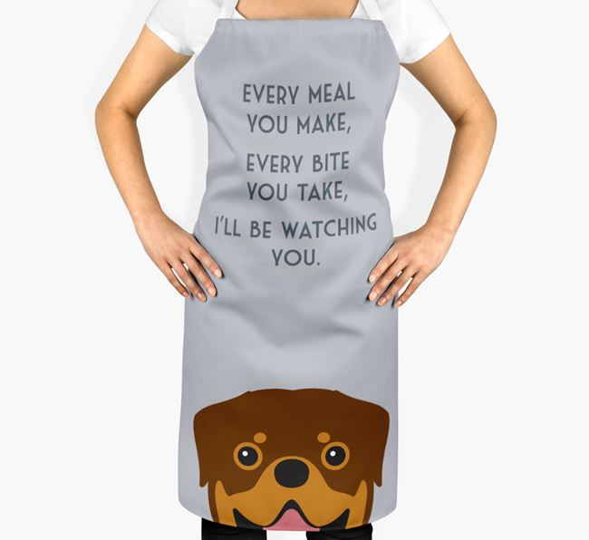 Rottweiler Apron - I'll be watching you