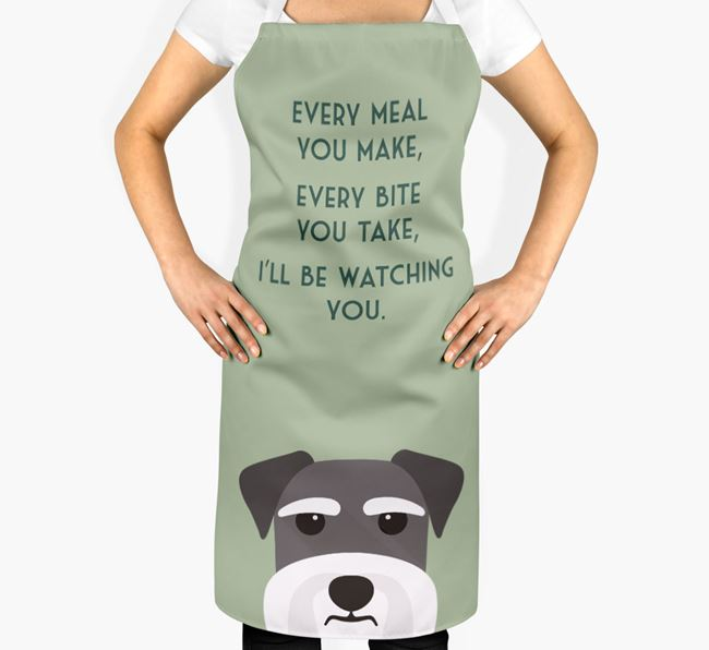 Schnauzer Apron - I'll be watching you