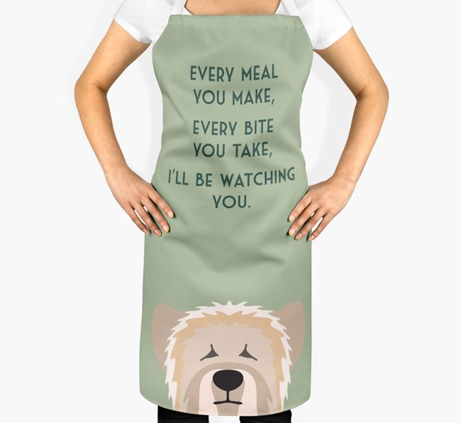 Skye Terrier Apron - I'll be watching you