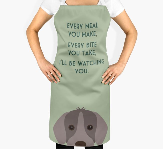 Slovakian Rough Haired Pointer Apron - I'll be watching you