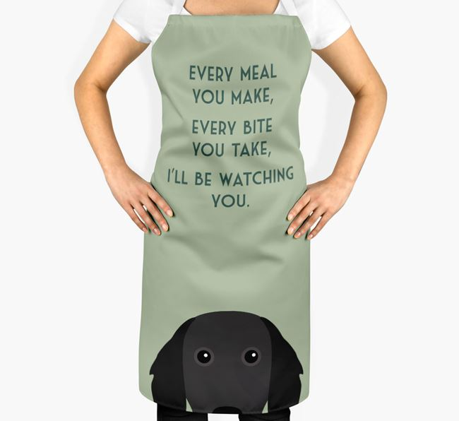 Small Munsterlander Apron - I'll be watching you