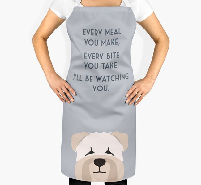 Soft Coated Wheaten Terrier Apron - I'll be watching you
