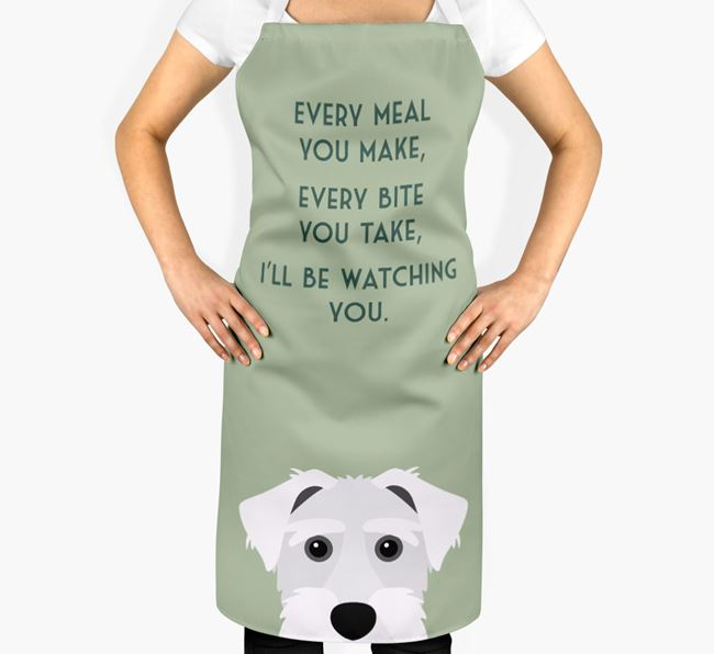 Sporting Lucas Terrier Apron - I'll be watching you