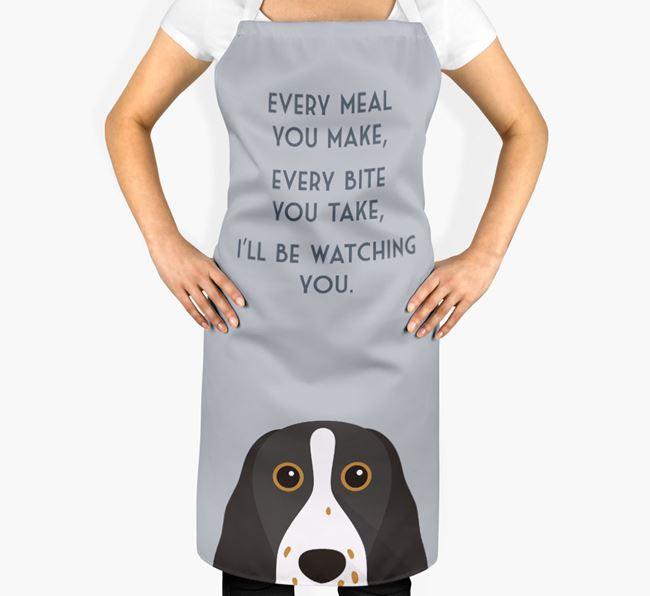 Springer Spaniel Apron - I'll be watching you