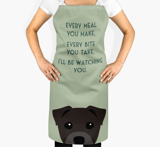 Staffy Jack Apron - I'll be watching you