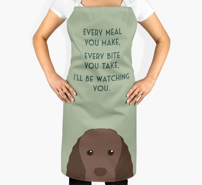 Sussex Spaniel Apron - I'll be watching you