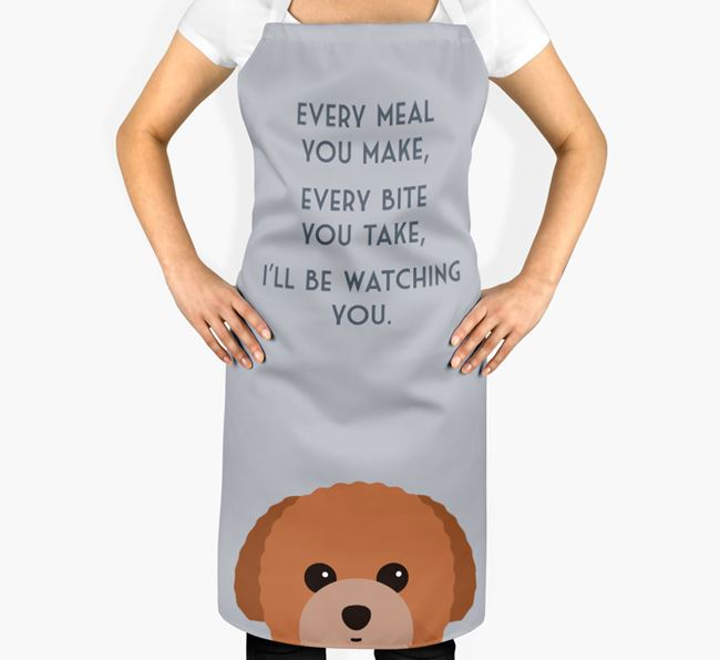 Toy Poodle Apron - I'll be watching you