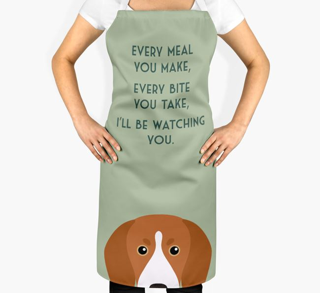 Treeing Walker Coonhound Apron - I'll be watching you