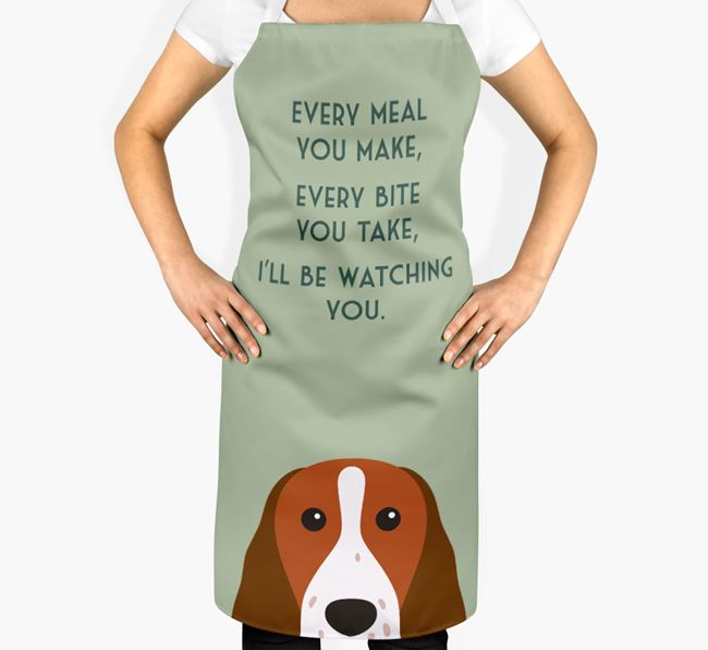 Welsh Springer Spaniel Apron - I'll be watching you