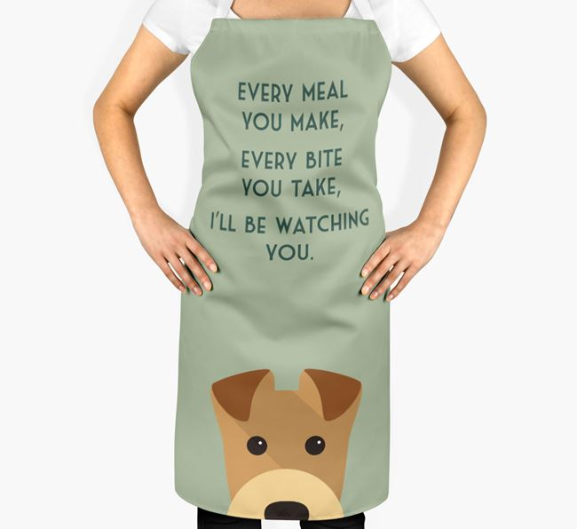 Welsh Terrier Apron - I'll be watching you