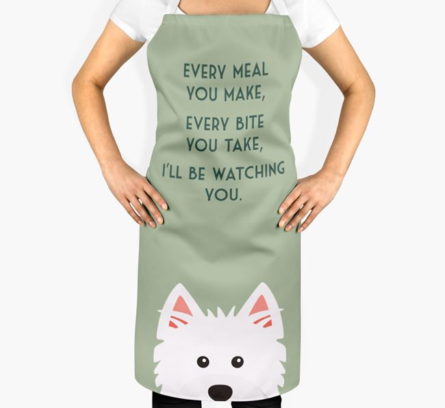 West Highland White Terrier Apron - I'll be watching you
