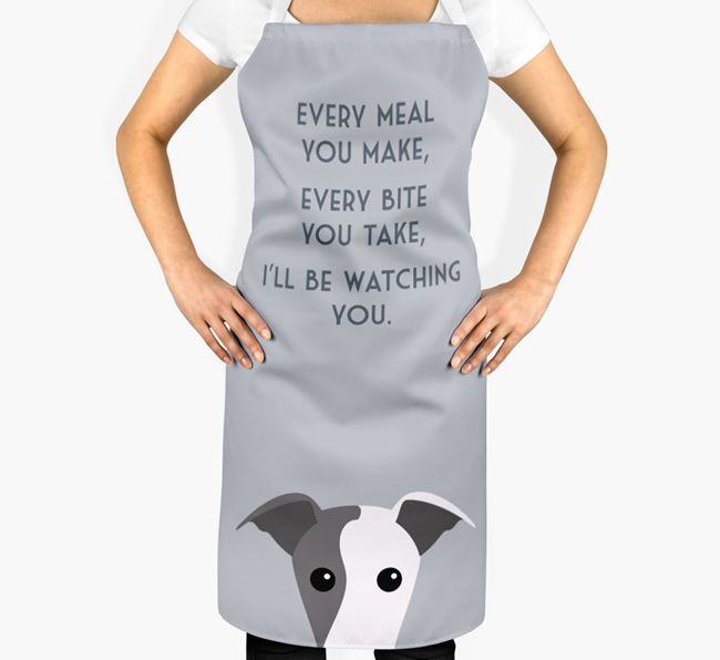 Whippet Apron - I'll be watching you