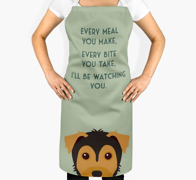 Yorkie Russell Apron - I'll be watching you