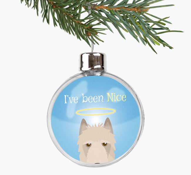 'I've been Nice' Fillable Bauble with your Belgian Laekenois Icon