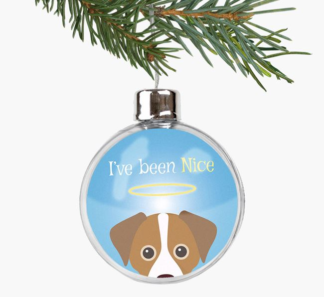 'I've been Nice' Fillable Bauble with your Cheagle Icon