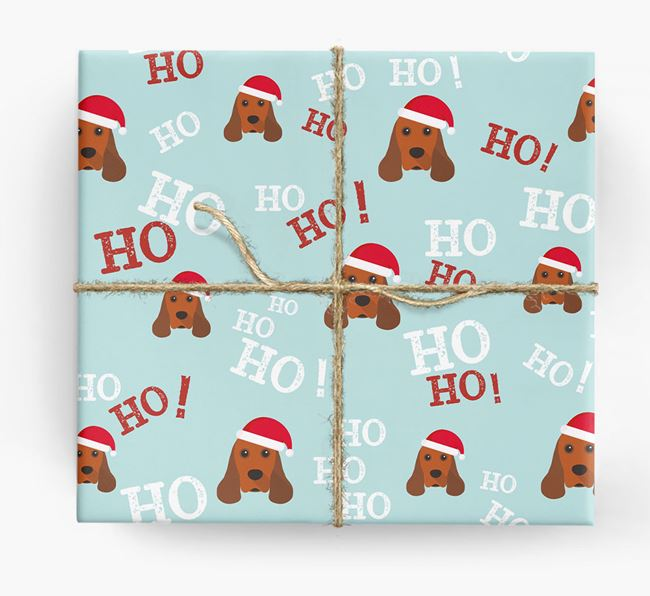 'Ho! Ho! Ho!' Wrapping Paper with your American Cocker Spaniel Icon
